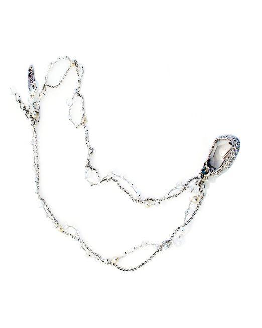 Designer's Crystal Pendant Necklace II | Melani di moda