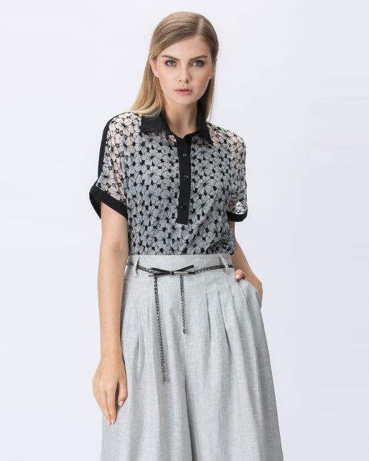 Semi Sheer Blouse with Tank   Melani di moda