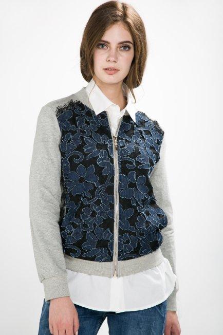 Zip Through Bomber Jacket   Melani di moda