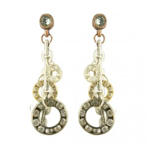 Designer's VINTAGE LOOP SWAROVSKI CRYSTALS EARRINGS | Melani di moda