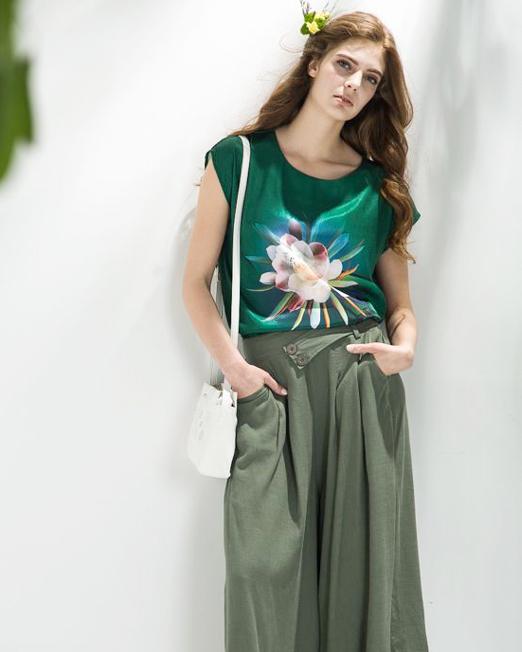 Melani di moda Satin Print Blouse | Melani di moda