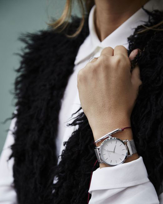 Rosefield The Tribeca White Silver Watch | Melani di moda