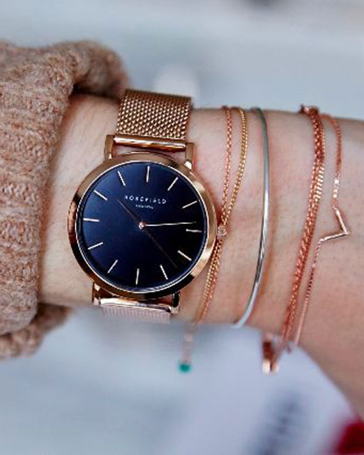 Rosefield The Tribeca Black Rose Gold | Melani di moda
