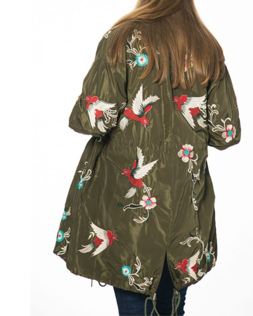 Passion 1 embroidered collarless coat -1